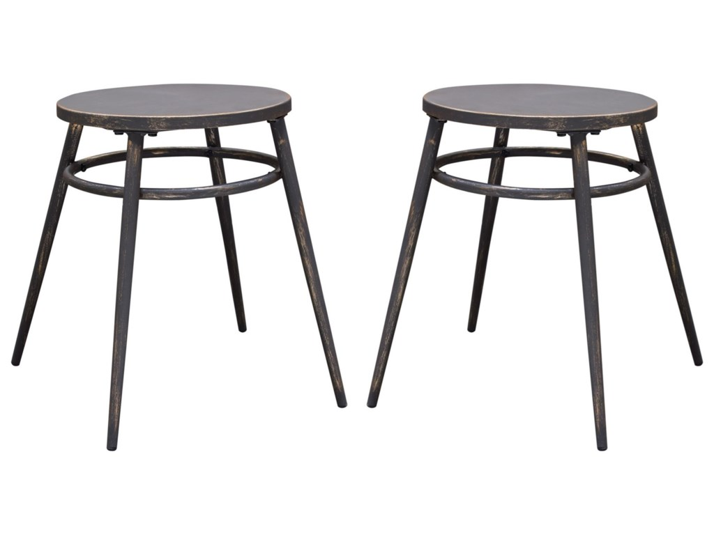 Diamond Sofa MotifSet of Two Dining Stools