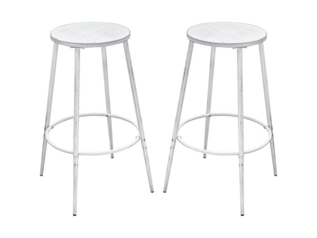 Diamond Sofa MotifSet of Two Bar Stools
