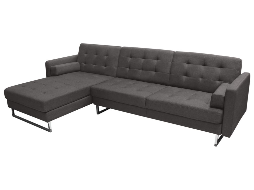 Diamond Sofa OpusConvertible Tufted LF Chaise Sectional