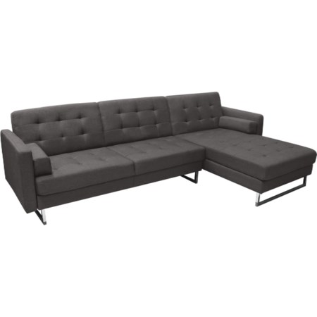 Reversible Sleeper Sectional Grey