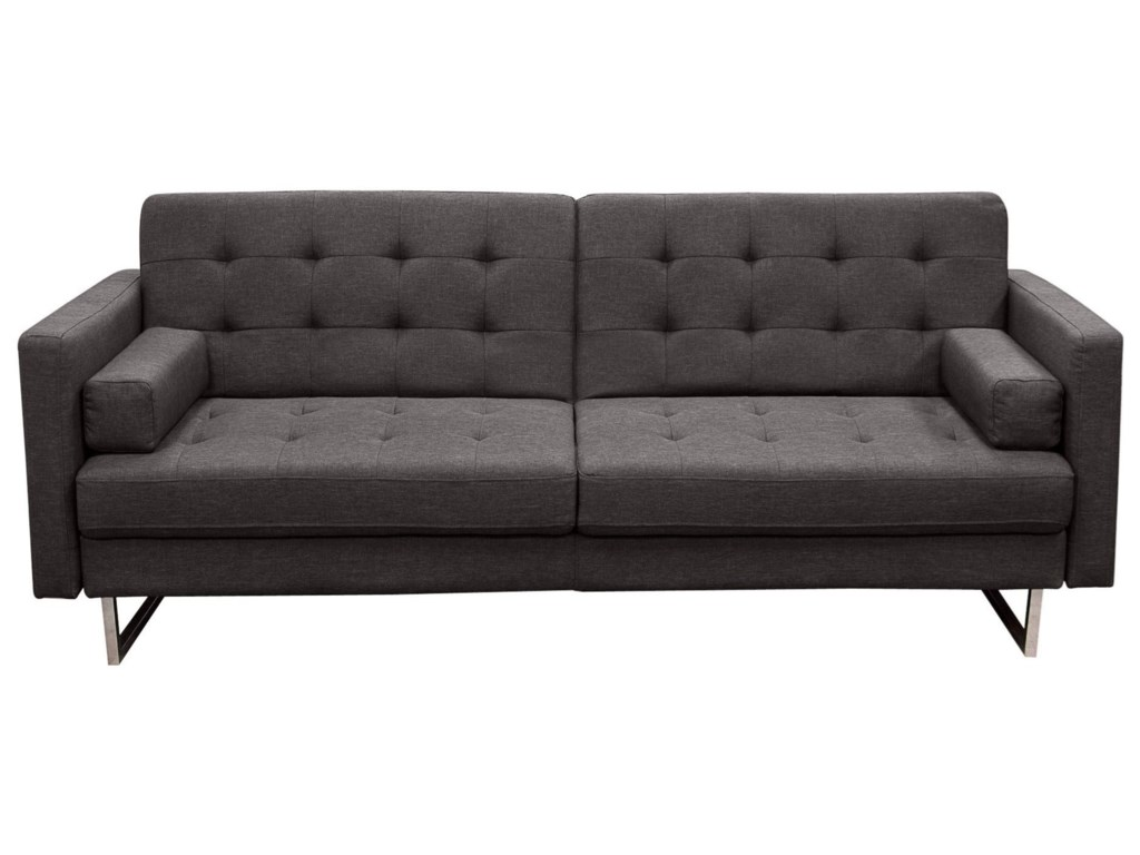 Opus Convertible Grey Tufted Polyester Fabric Sofa by Del Sol DS at Del Sol  Furniture