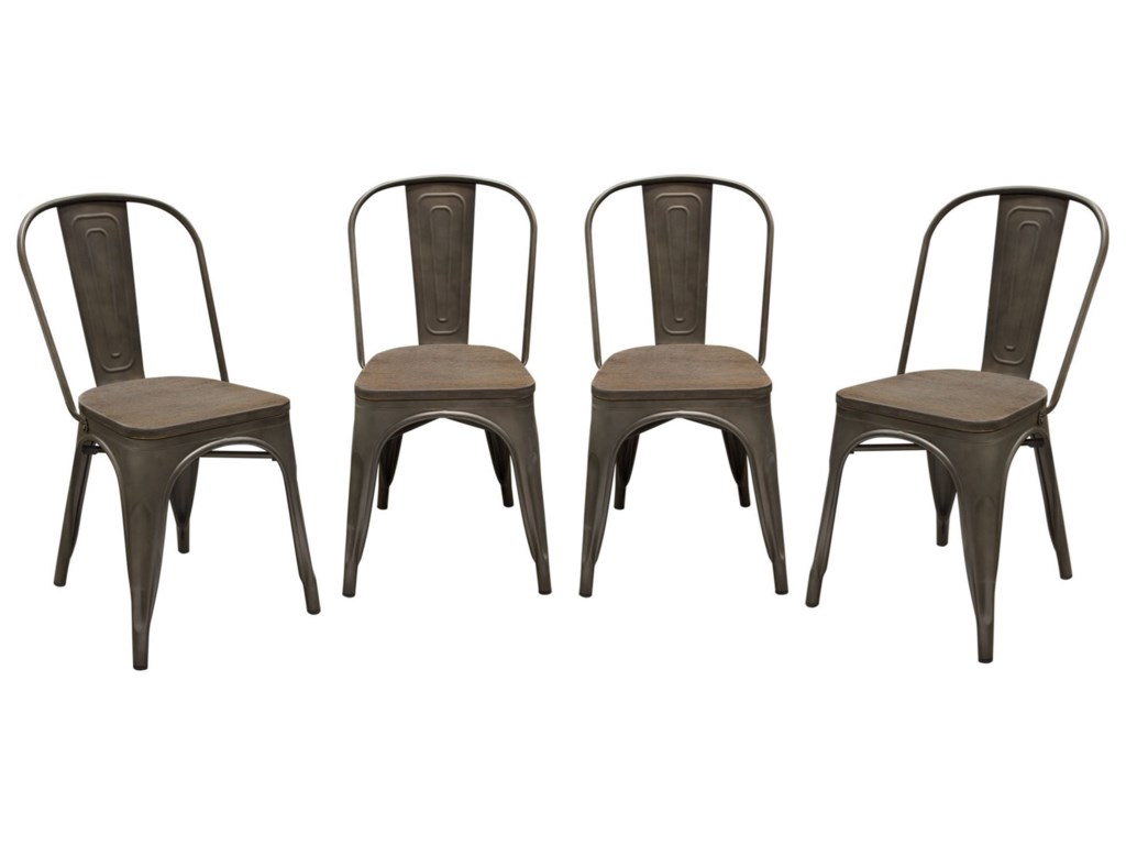 Diamond Sofa PandaSet of Four Dining Chairs