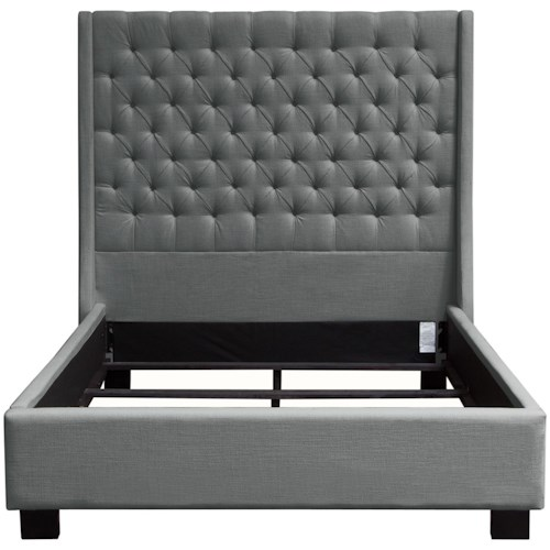 Diamond Sofa Park Ave Queen Tufted Bed with Vintage Wing