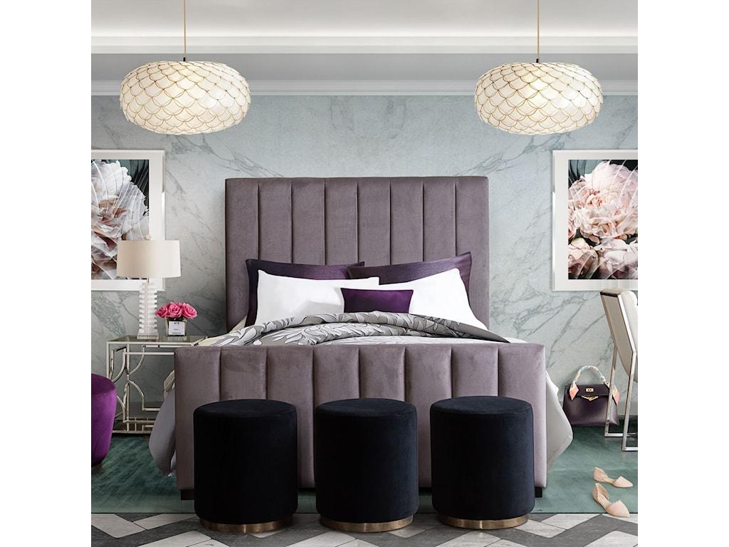 Diamond Sofa SorbetAccent Ottoman