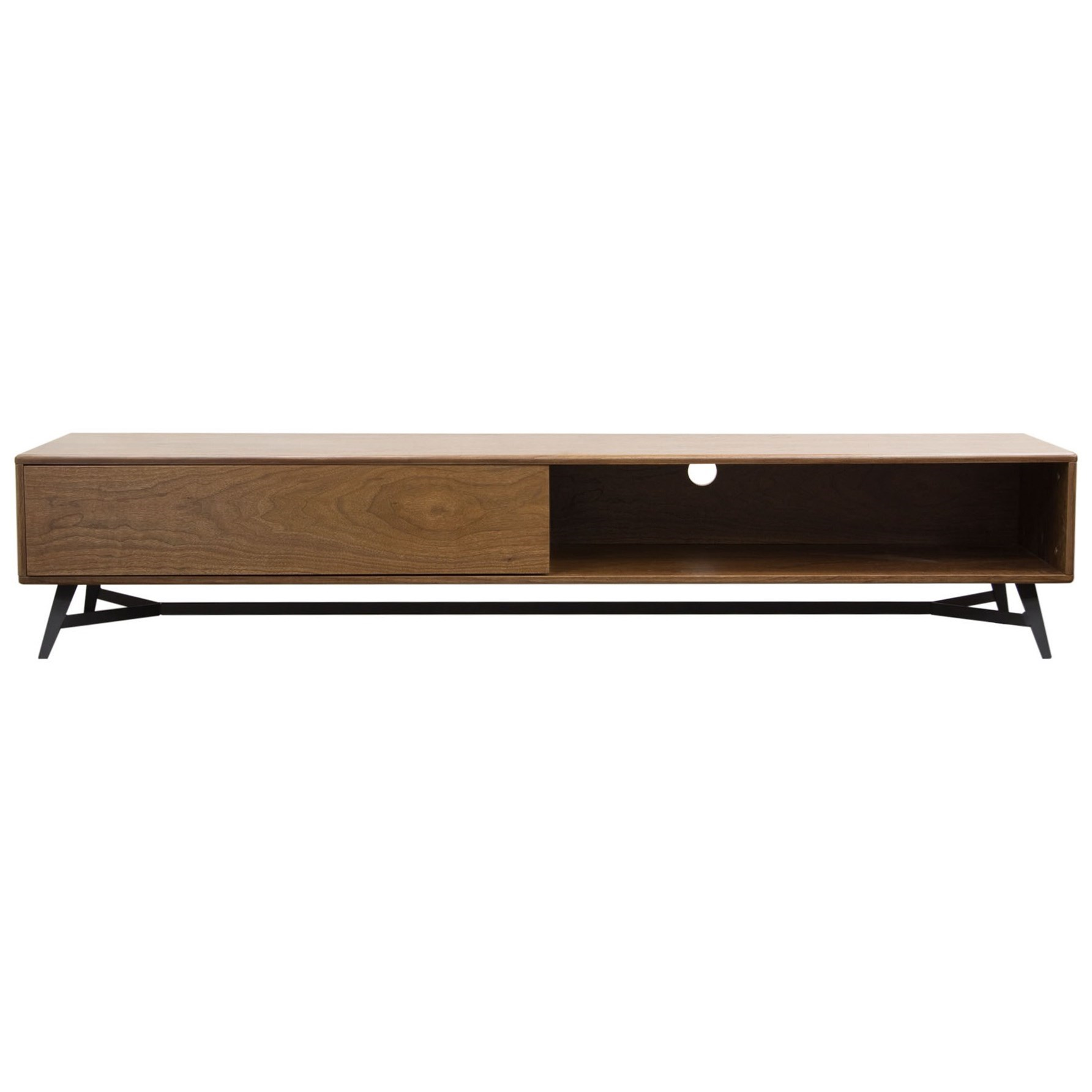 Bon Diamond Sofa Tempo Low Profile Entertainment Cabinet | Boulevard Home  Furnishings | TV Stands