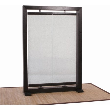 2 Panel Crackled Glass Partition