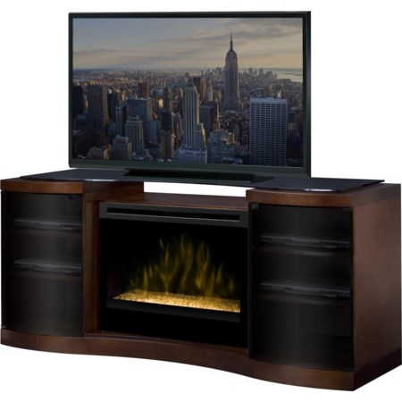 Media Console with Electric Firebox