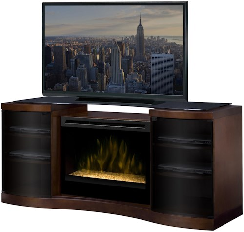 Dimplex Acton Media Console Cabinet with 33 Inch Electric Firebox