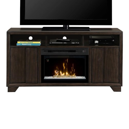 Dimplex Bayne Media Mantel with Fireplace