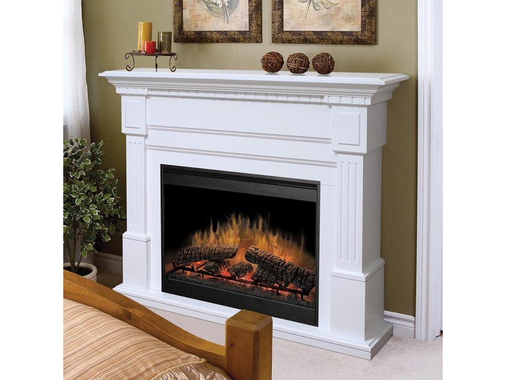 Dimplex Flat-Wall FireplacesEssex White Electric Fireplace