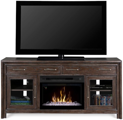 Dimplex Media Console Fireplaces Woolbrook Media Console w/ Electric Fireplace