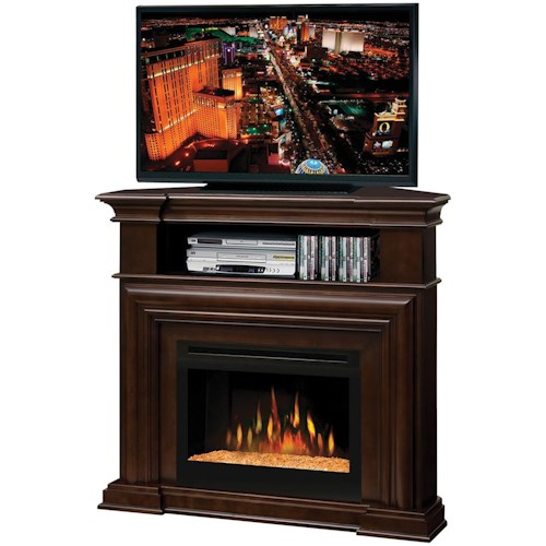 Dimplex Media Console Fireplaces Complete Montgomery Media Console with Glass Fireplace