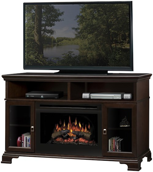Dimplex Media Console Fireplaces Brookings Media Console Fireplace with Logs