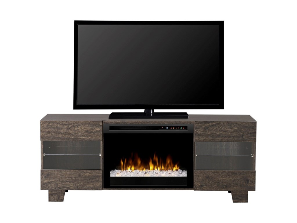 Dimplex Media Console FireplacesMax Acrylic Ice Media Mantel Fireplace