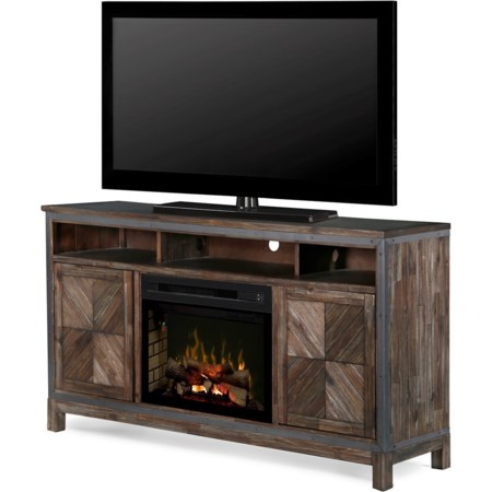 Wyatt Media Mantel Fireplace