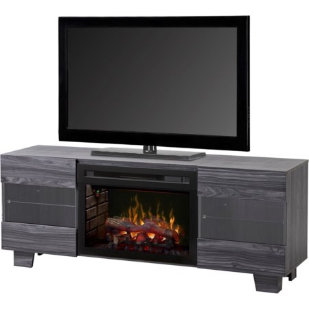 Max Media Mantel Fireplace