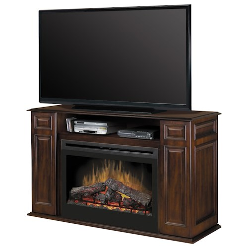 Dimplex Media Console Fireplaces Atwood Media Console Fireplace with Logs
