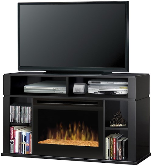 Dimplex Media Console Fireplaces Contemporary Sandford Media Console Fireplace with Glass