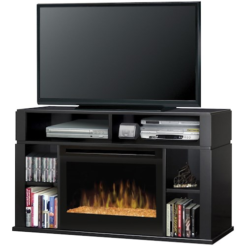 Dimplex Media Console Fireplaces Contemporary Sandford Media Console Fireplace with Glass