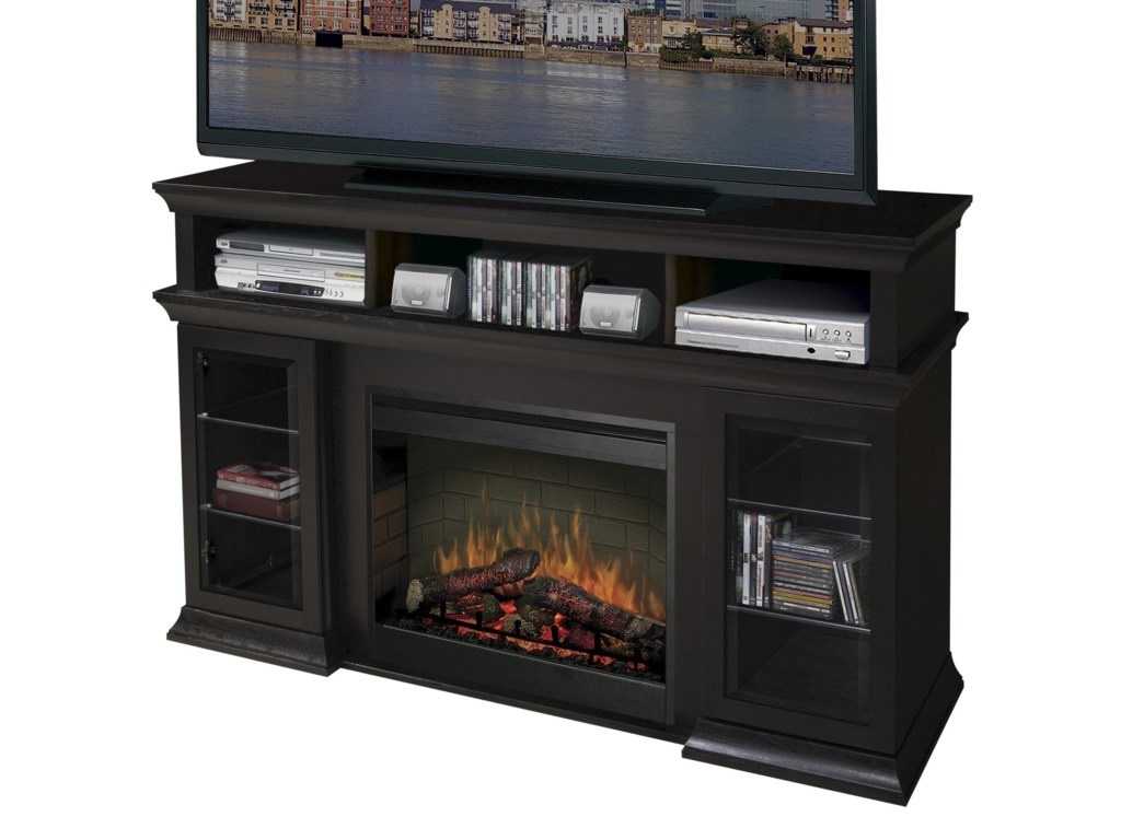 Dimplex Media Console FireplacesBennett Media Console Fireplace with Logs