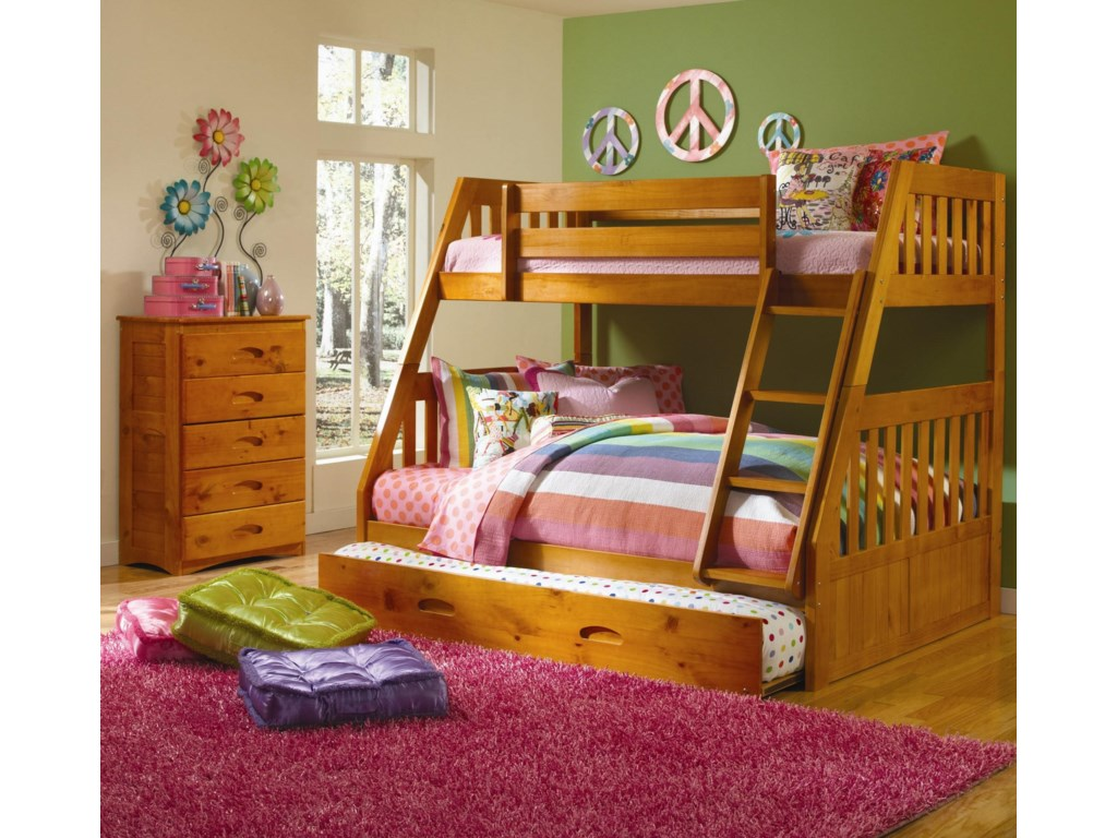 Discovery World Furniture HoneyTwin Over Full Bunk Bed