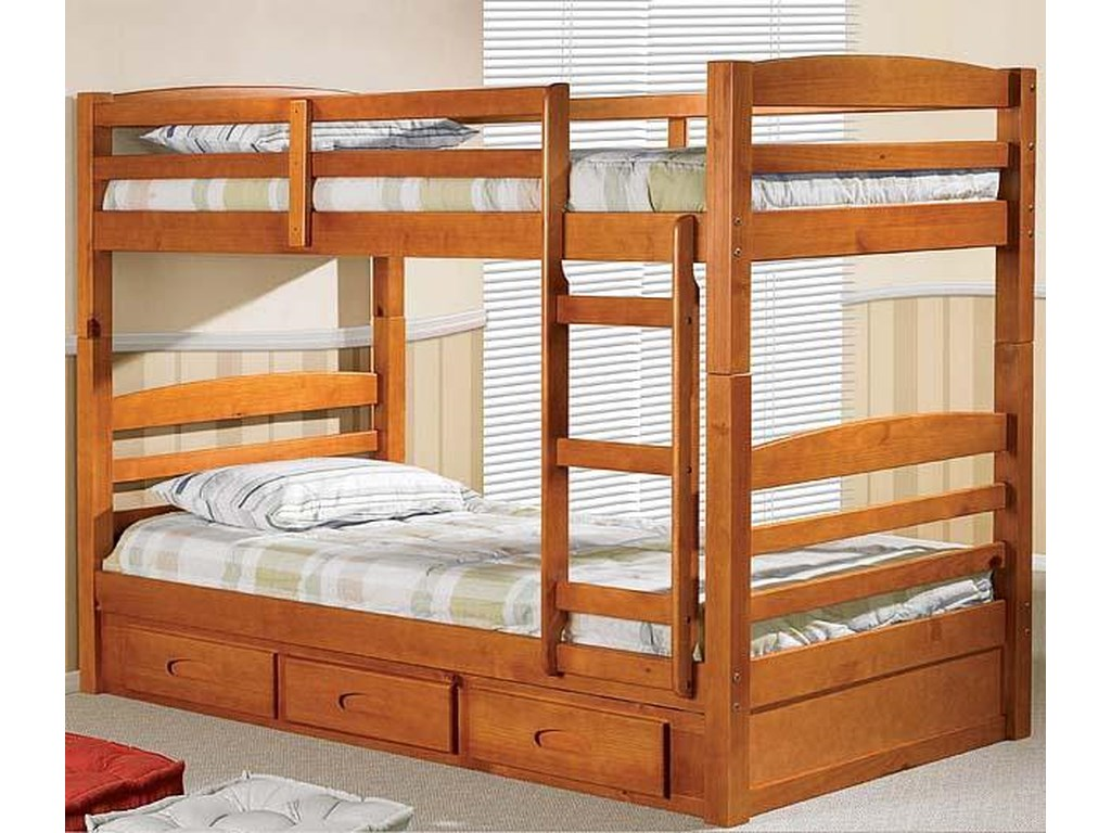 Discovery World Furniture Honey Twin Bunk Bed