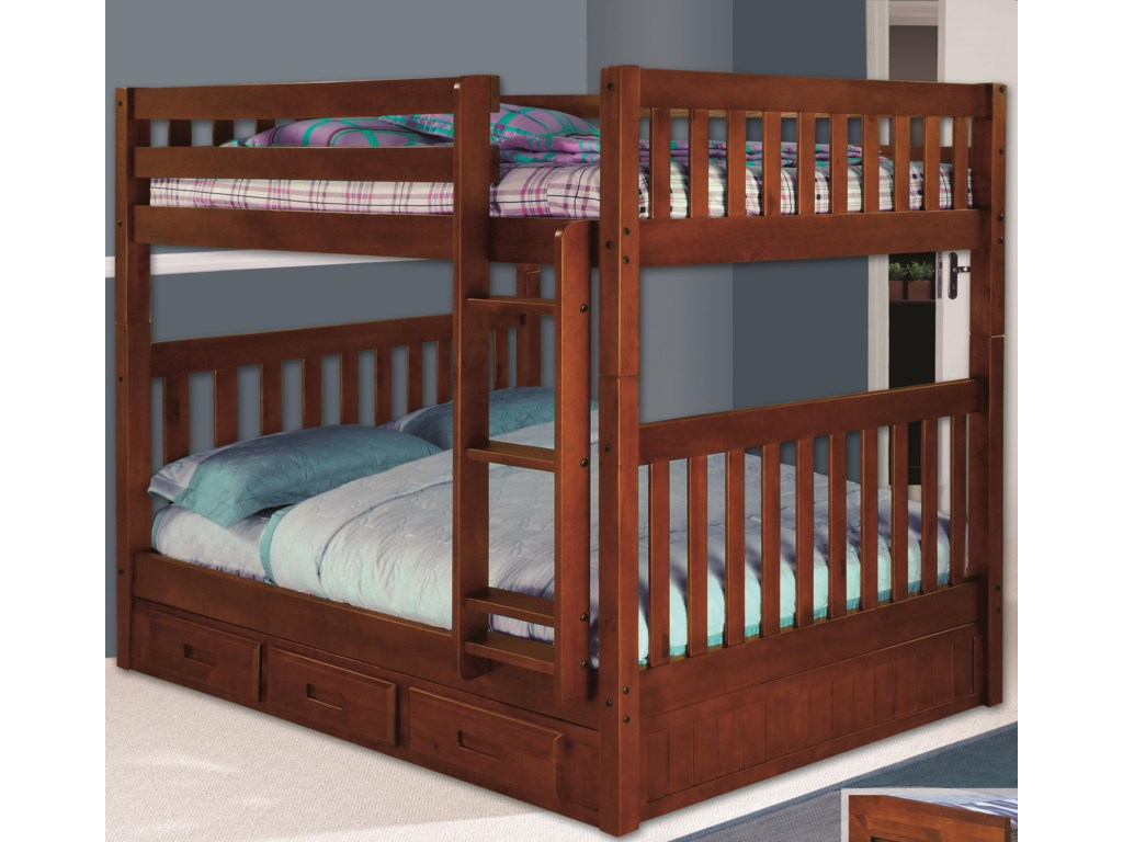 Discovery World Furniture MerlotFull Bunk Bed