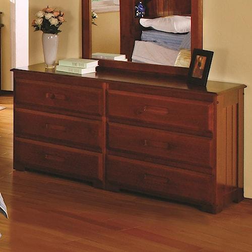 Discovery World Furniture Merlot Drawer Dresser
