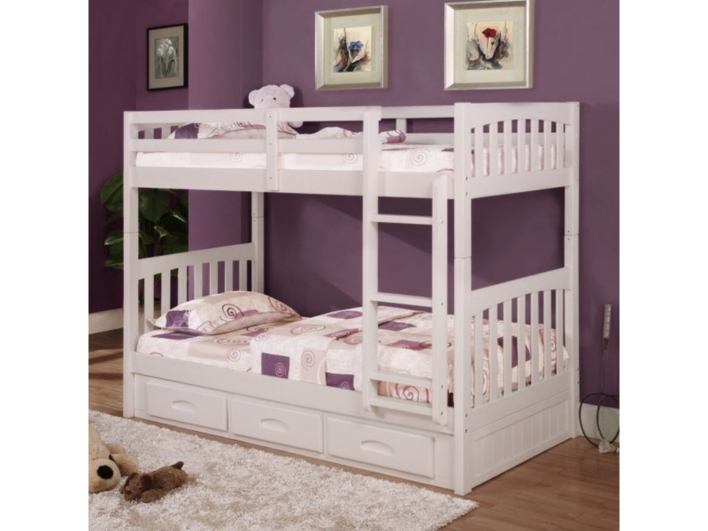 Discovery World Furniture WhiteTwin Bunk Bed