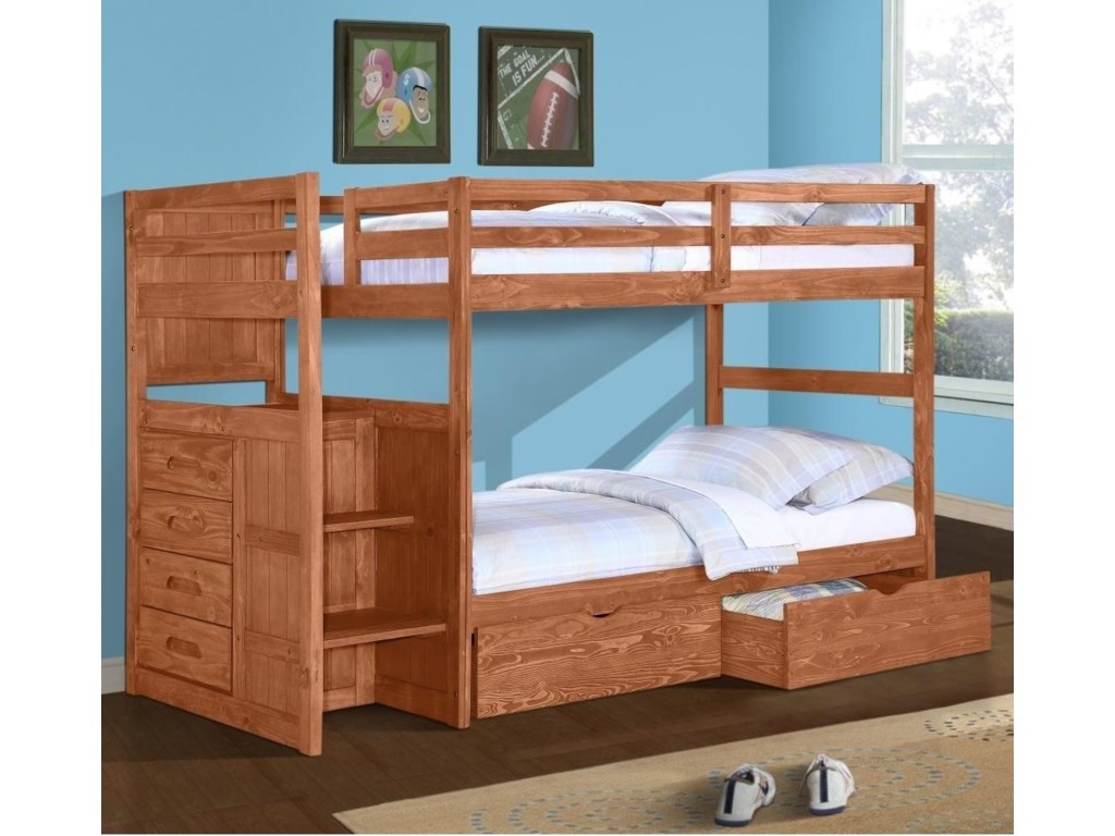 Donco Trading Co 1012Stairstep Bunkbed