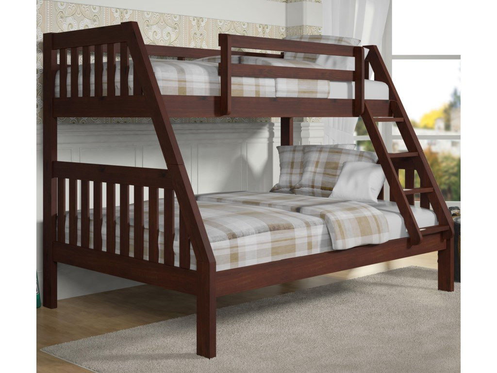 Donco Trading Co 1018Twin over Full Bunk Bed