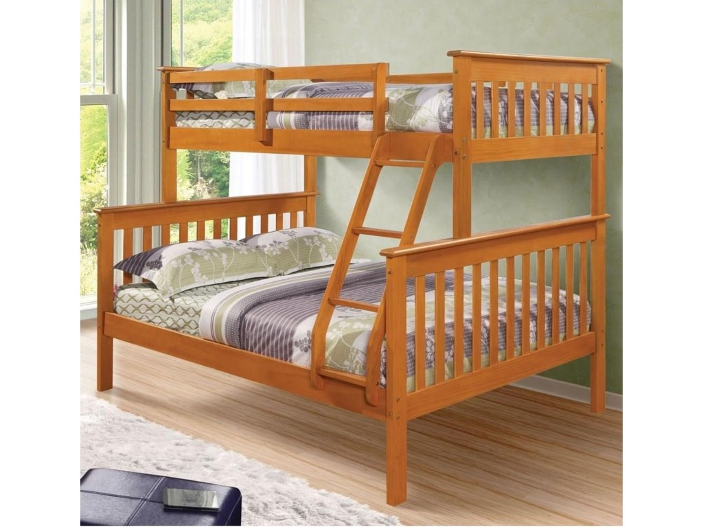 Donco Trading Co 122Twin/Full Mission Bunkbed