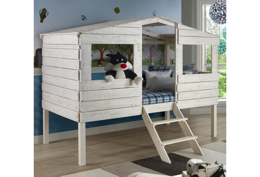 Donco Trading Co Honeydew Twin Tree House Bed Morris Home Loft