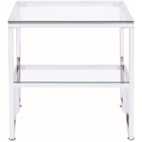 Donny Osmond Home 70588 Contemporary Glass Top End Table