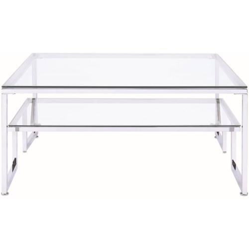 Donny Osmond Home 70588 Contemporary Glass Top Coffee Table