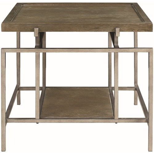 Donny Osmond Home 72143 Contemporary End Table with Geometric Frame