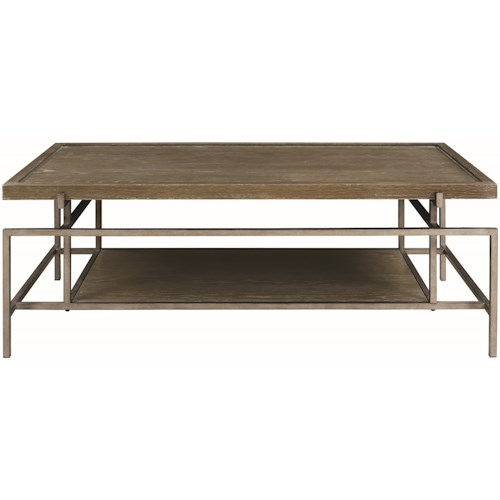 Donny Osmond Home 72143 Contemporary Coffee Table with Metal Frame