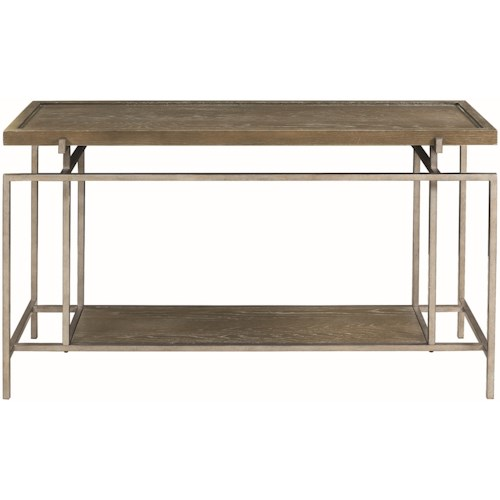 Donny Osmond Home 72143 Contemporary Sofa Table with Geometric Frame