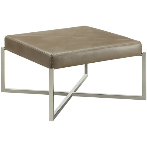 Donny Osmond Home Accent Seating Modern Square Ottoman