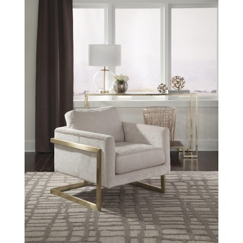 Donny Osmond Home Accent Seating Modern Accent Chair with Floating Back