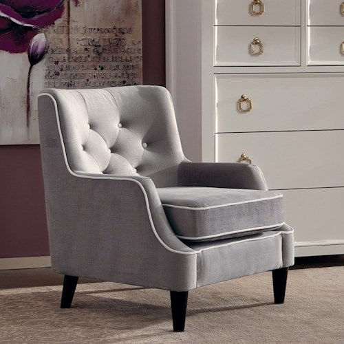 Donny Osmond Home Accent Seating Accent Chair with Tufted Back Cushion