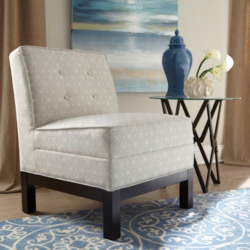 Donny Osmond Home Accent Seating Armless Accent Chair with Tufted Back Cushion