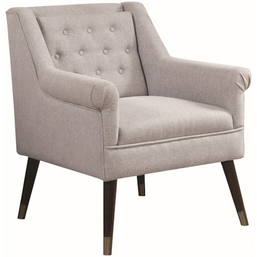 Donny Osmond Home Accent Seating Upholstered Arm Chair with Button Tufting
