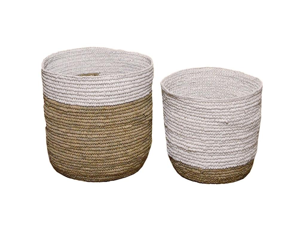 Dovetail Furniture AccessoriesBasket Set of 2