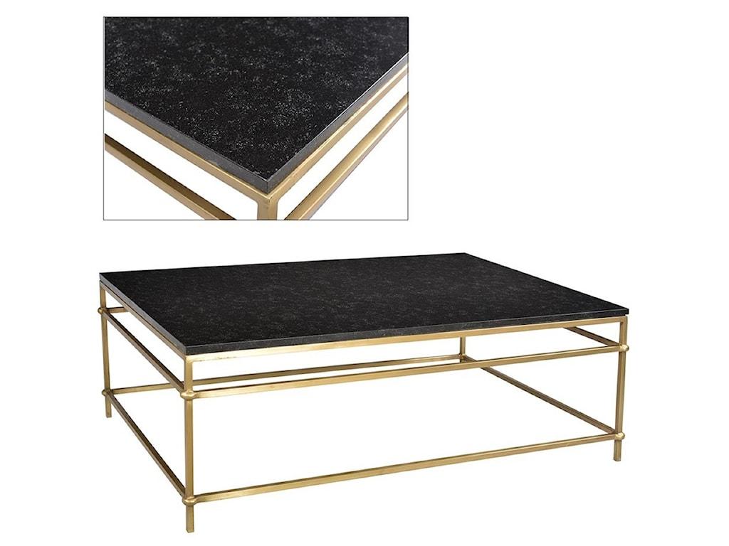 Dovetail Furniture ArdenArden Coffee Table Black Marble