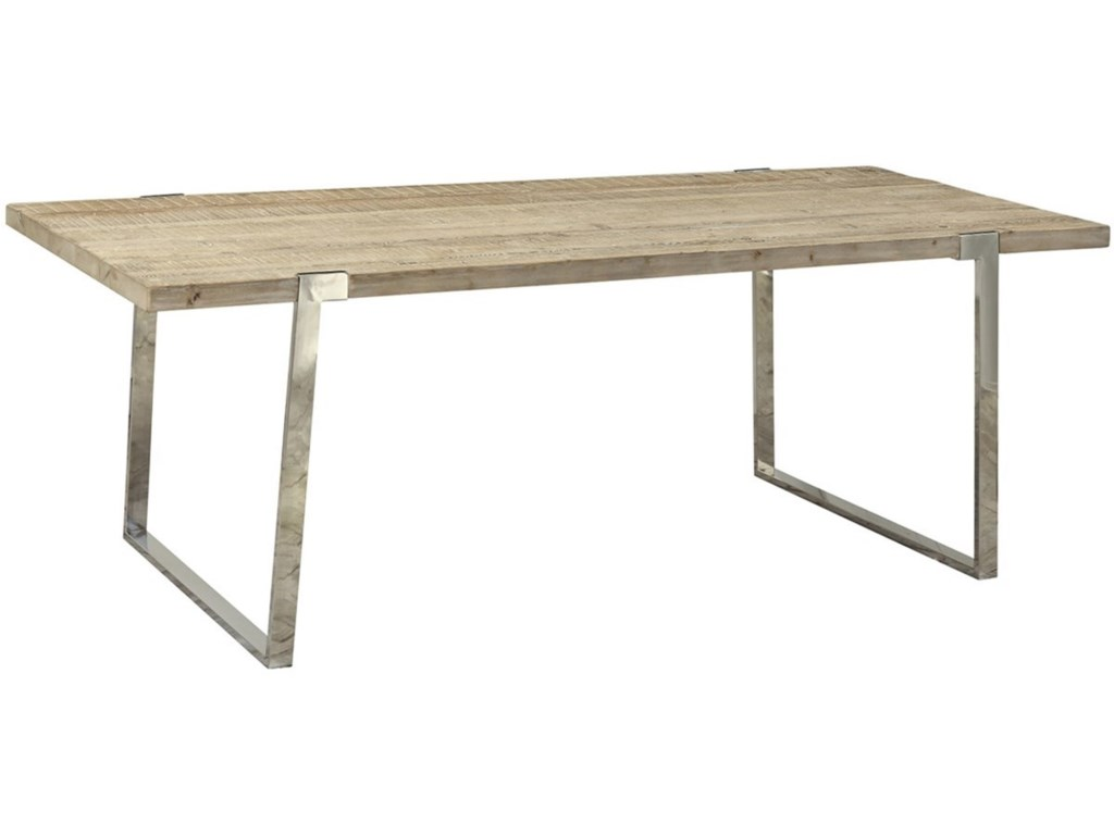Dovetail Furniture Byron Dining Table With Stainless Steel