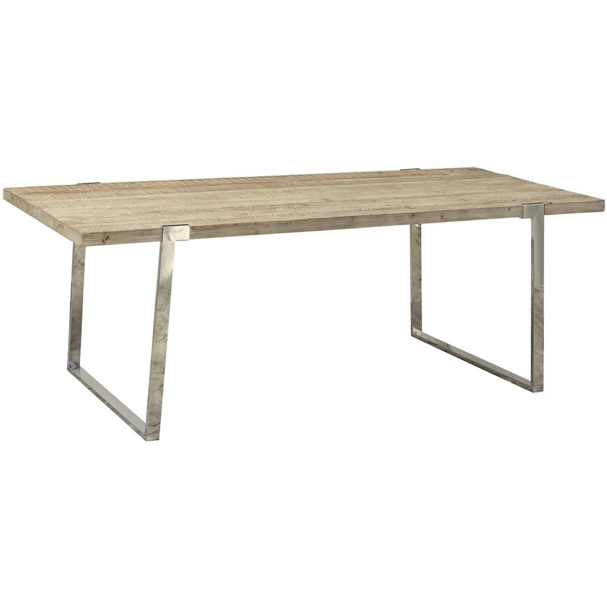 Dovetail Furniture Byron Dining Table With Stainless Steel Base