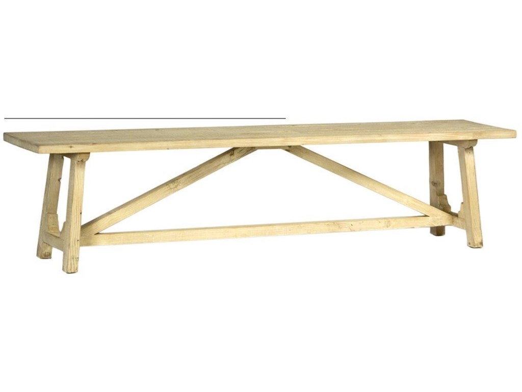 Dovetail Furniture Cavendish Dining Bench With Trestle Base Story