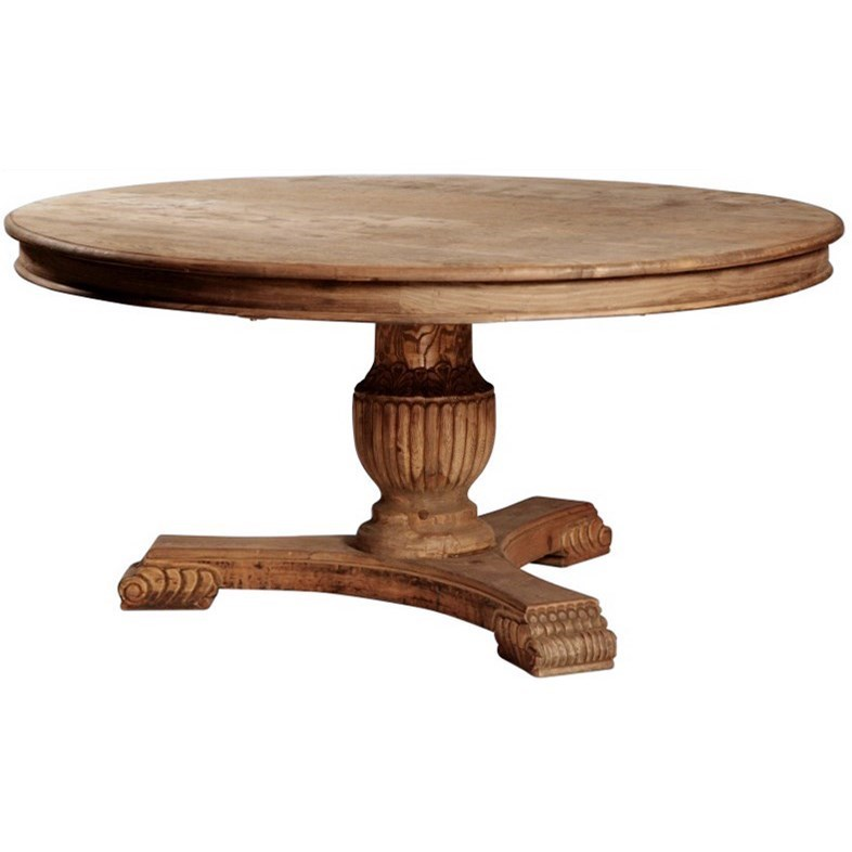 Charming Dining Dublin Round Dining Table With Reclaimed Wood By Dovetail Furniture