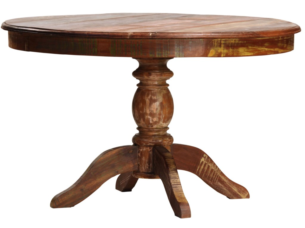 Dovetail Furniture Dovetail Round Dining Table W Pedestal Story